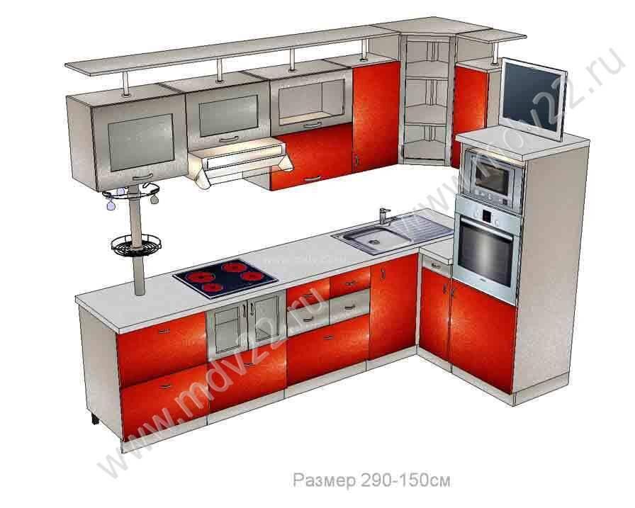 Интерьер кухни в квадратов кухни