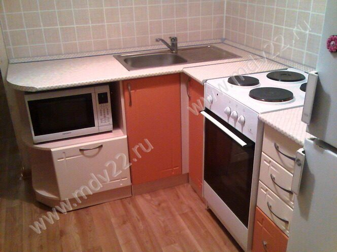 Кухня маленькая угловая в хрущёвку Кухни свободной комплектации.