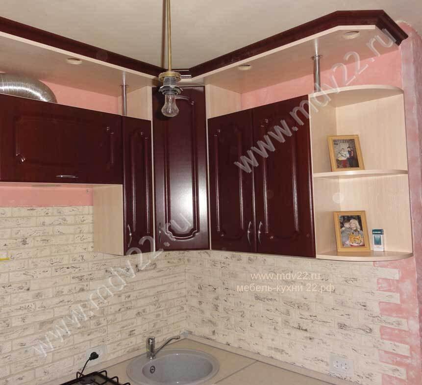 угловая мебель для маленькой кухни фото