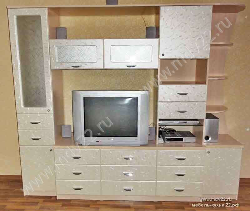 Модульная мебель для гостиной ирина (фасады мдф - лаванда же.