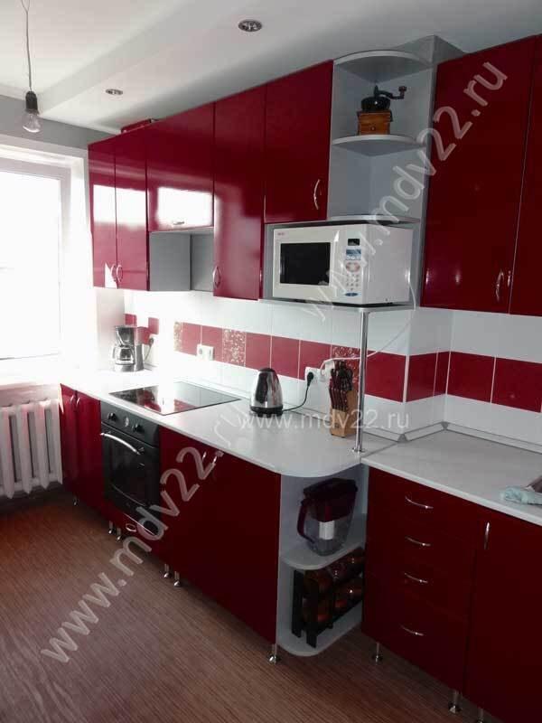 Кухня в квартире 464 серии прямая