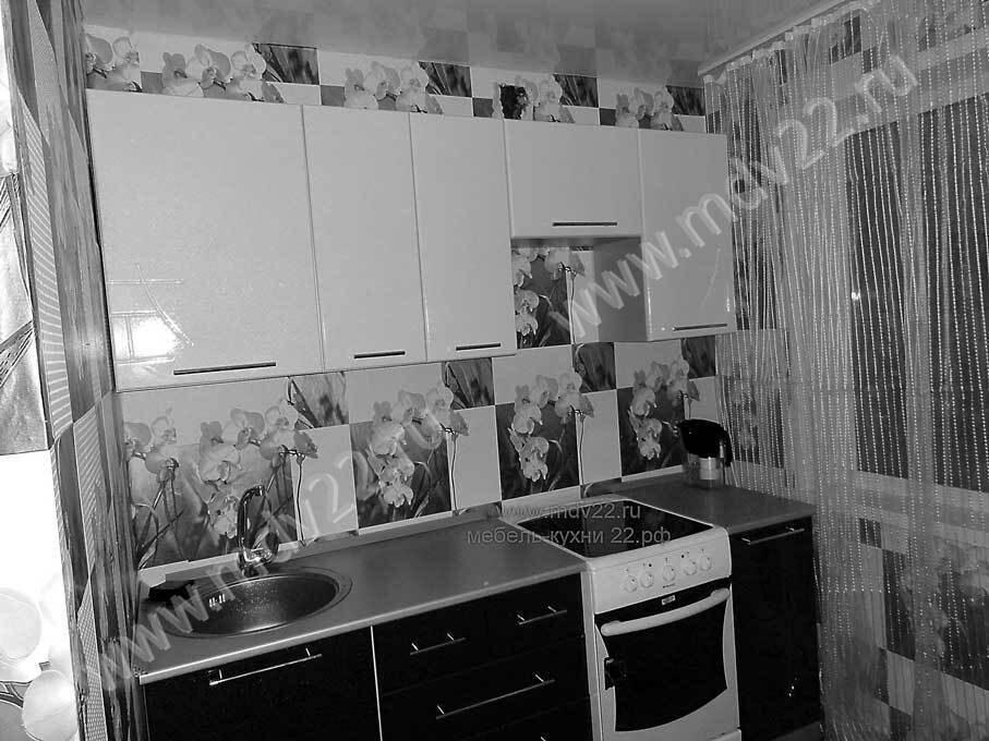 Кухни на заказ черно белая кухня