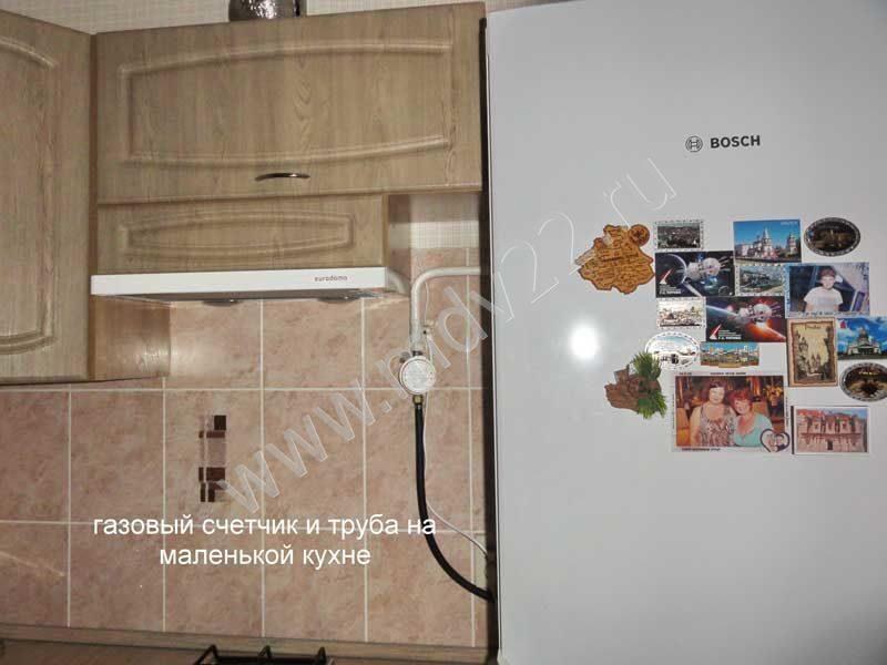 Газовый счетчик в интерьере кухни фото