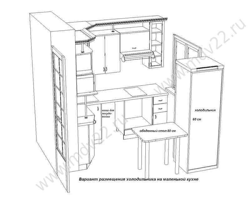 Описание: комплект мебели для кухни 11 предметов. Функциональная кухня в классическом стиле со встроенной бытовой