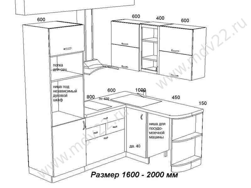 комплект мебели для кухни.