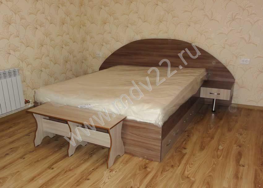 Кровать ясень шимо темный