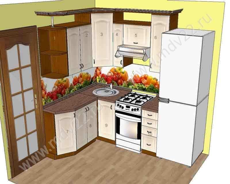 Кухонный гарнитур для хрущевок