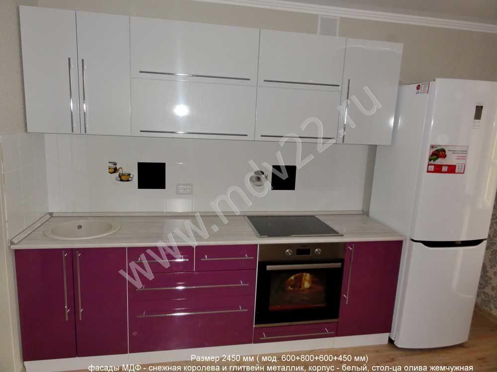 Фиолетовые сиреневые лиловые кухни