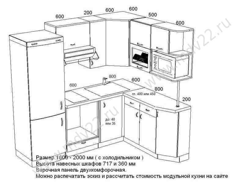 16 Угловая кухня для хрущевки