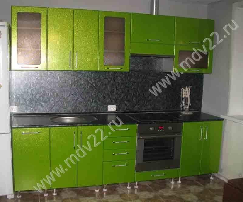 Кухни из мдф прямые цвет салатовый фото