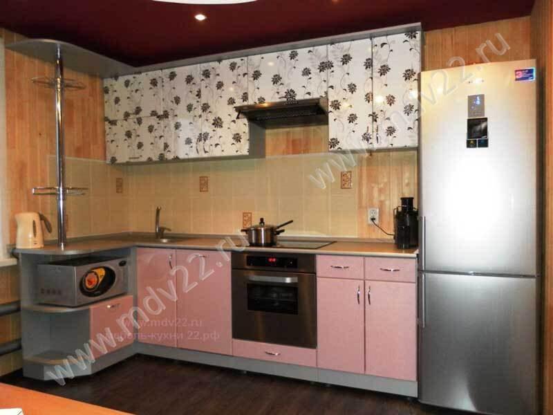 Гарнитуры для кухни с цветами фото