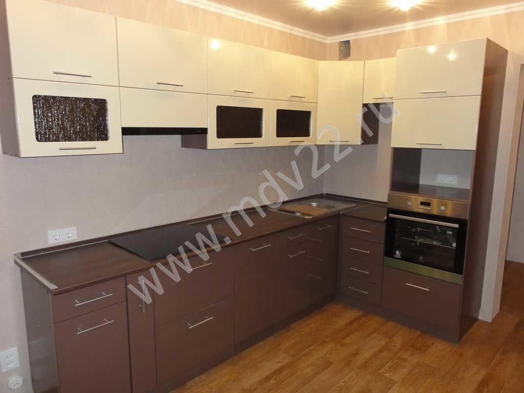 кухня шоколад и ваниль глянец фото