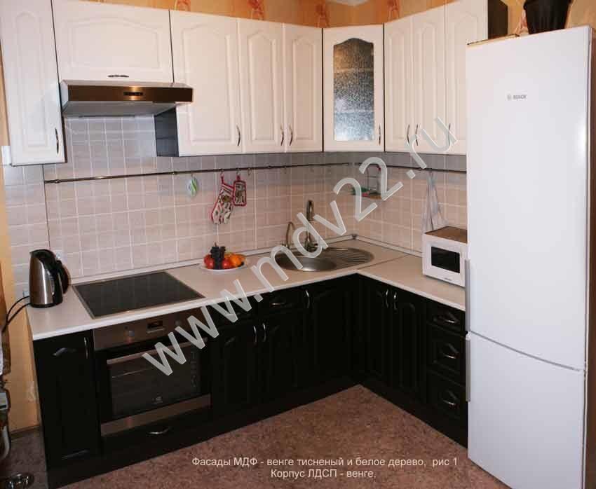 Кухня 3 метра новая мдф прага белое дерево/ венге купить в Москве   Товары  для дома и дачи   Авито   698x850